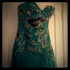 Peacock formal dress